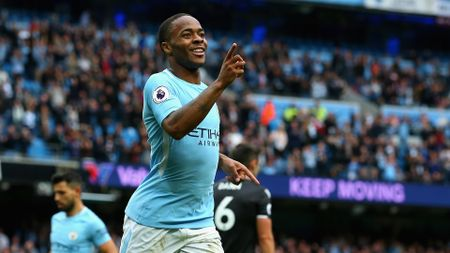 Raheem Sterling celebrates