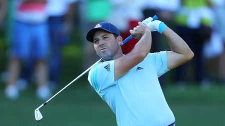 Sergio Garcia leads with a round to go