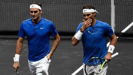 Roger Federer and Rafael Nadal team up in the Laver Cup