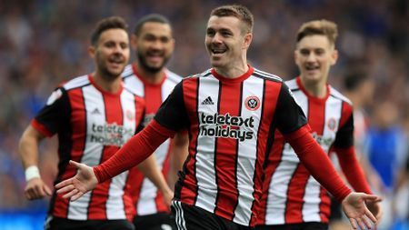 John Fleck of Sheffield United celebrates