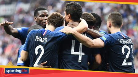 France players celebrate during their World Cup final victory over Croatia