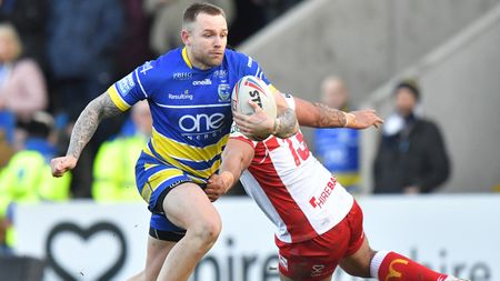 Warrington's Blake Austin in action