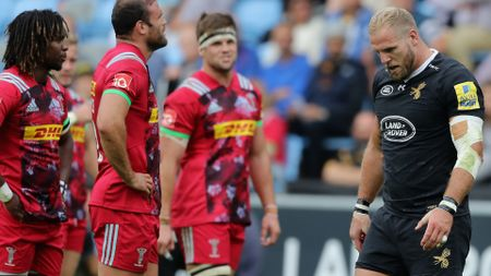 James Haskell walks off after being shown the yellow card