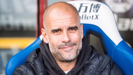 Pep Guardiola: Manchester City boss pictured in the dugout at Crystal Palace