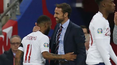 Raheem Sterling and England manager Gareth Southgate