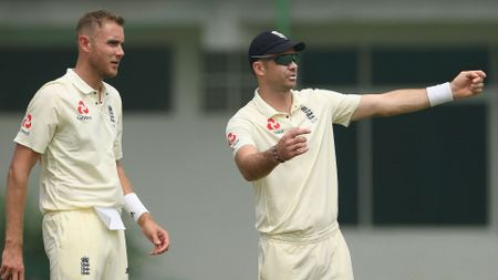 Stuart Broad, left, and James Anderson