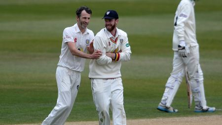 Graham Onions shares a joke with Ryan Pringle