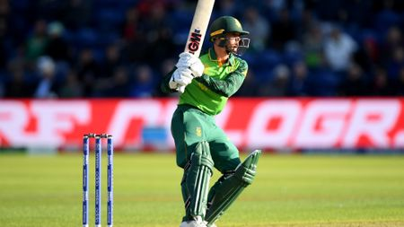 Quinton De Kock: Pictured in South Africa's Cricket World Cup win over Afghanistan