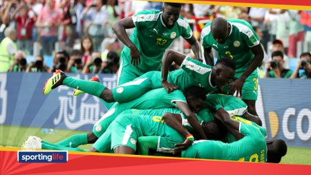 Senegal celebrate Mbaye Niang's goal against Poland