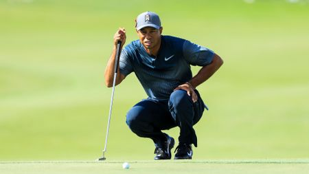 Tiger Woods in action at the Honda Classic