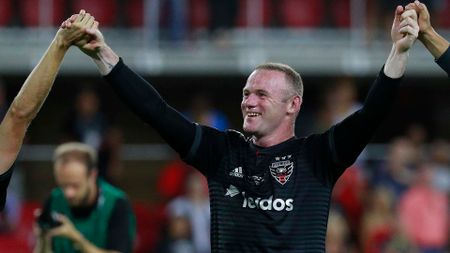 Wayne Rooney celebrates for DC United