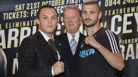 Josh Warrington (left) faces Dennis Ceylan this weekend
