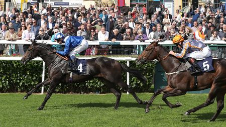 Khaadem is clear of Swissterious at Doncaster