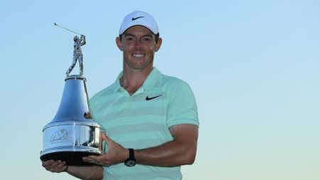 Rory McIlroy celebrates winning the Arnold Palmer Invitational
