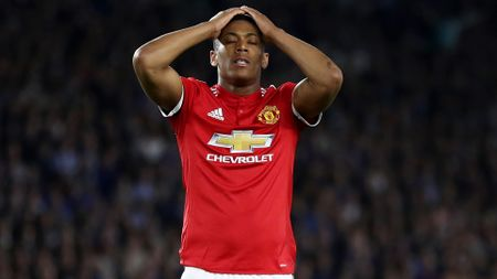 Anthony Martial shows his frustration