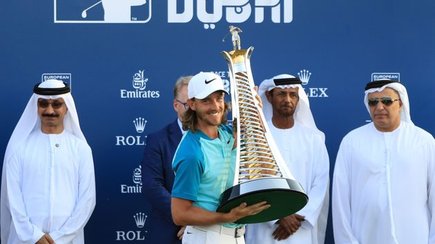 Tommy Fleetwood celebrates his success