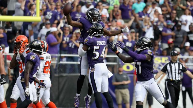 Baltimore's defense take their play-making talents to Wembley