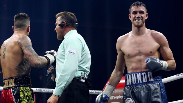 Callum Smith (right) in action
