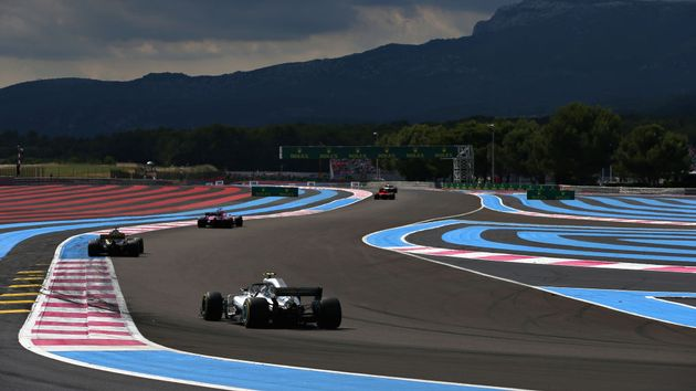 Action from last year's French Grand Prix