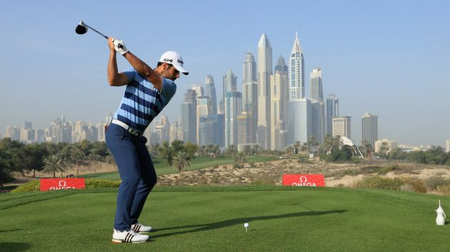 Adrian Otaegui during the Commercial Bank Qatar Masters
