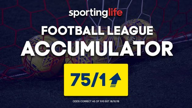 You can back the Sporting Life Accumulator at 75/1 on Saturday