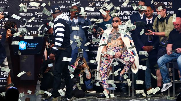 Most of the punters' money is going on Conor McGregor