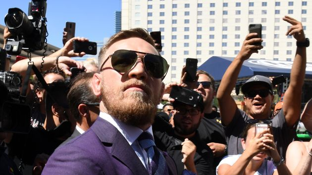Conor McGregor arrives in Vegas