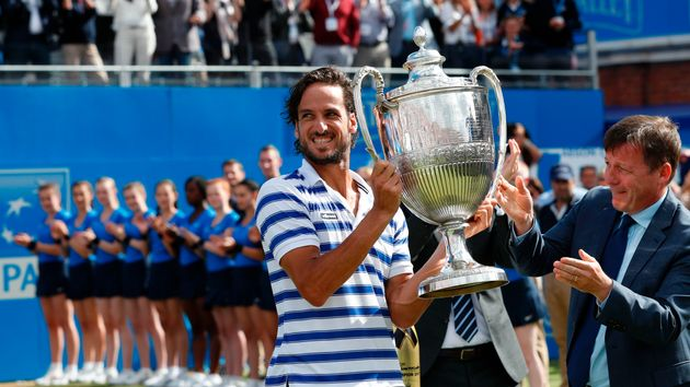 Feliciano Lopez was crowned champion at Queen's