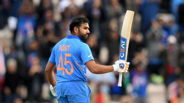 Rohit Sharma celebrates