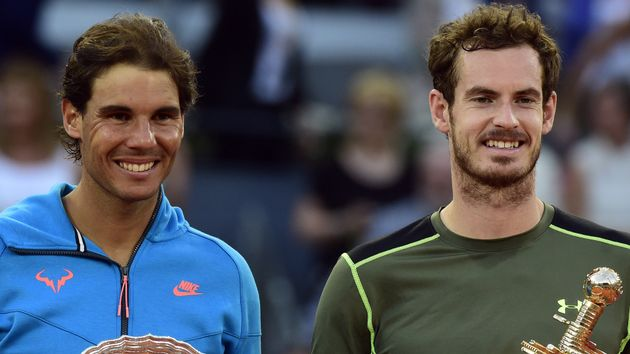 Rafael Nadal (l) and Andy Murray could meet in Davis Cup
