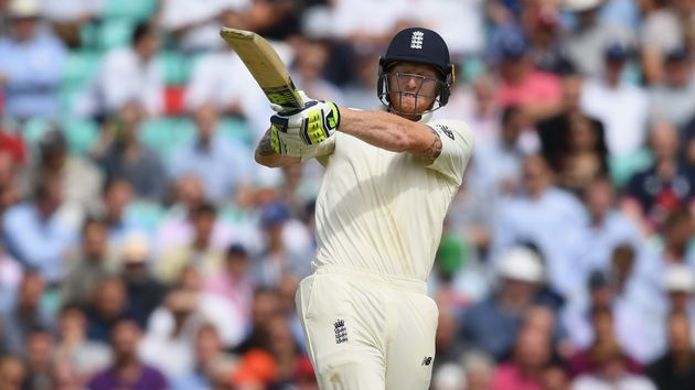 Ben Stokes in action on day two
