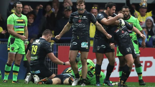 Damian Penaud of Clermont celebrates