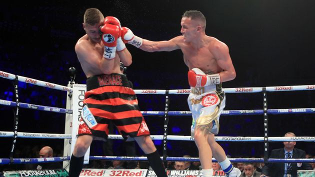 Josh Warrington (right) in action in Leeds