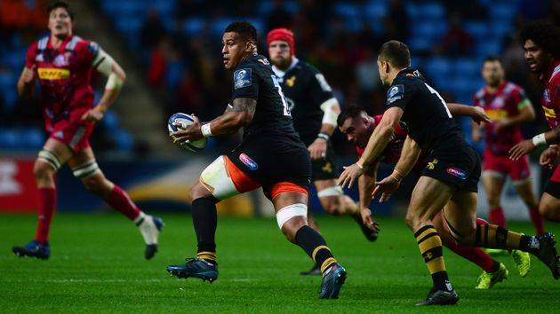 Nathan Hughes in action for Wasps