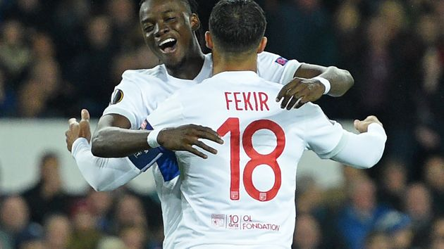 Bertrand Traore and Nabil Fekir
