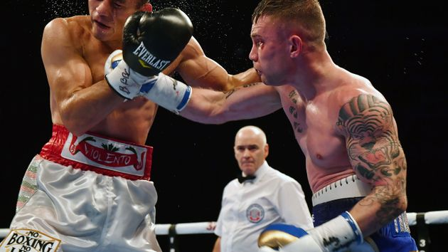 Carl Frampton lands a right hand