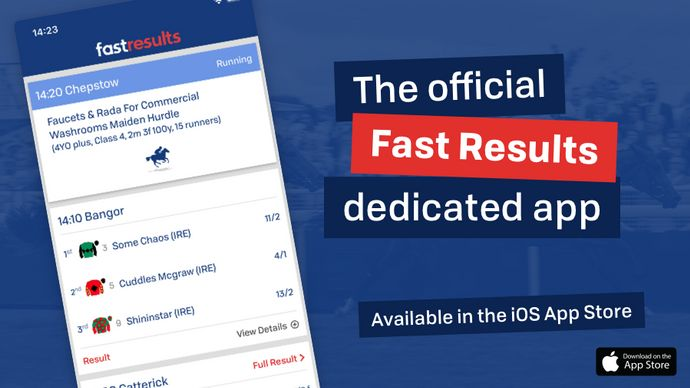 A new, dedicated Fast Results app from Sporting Life - Horse