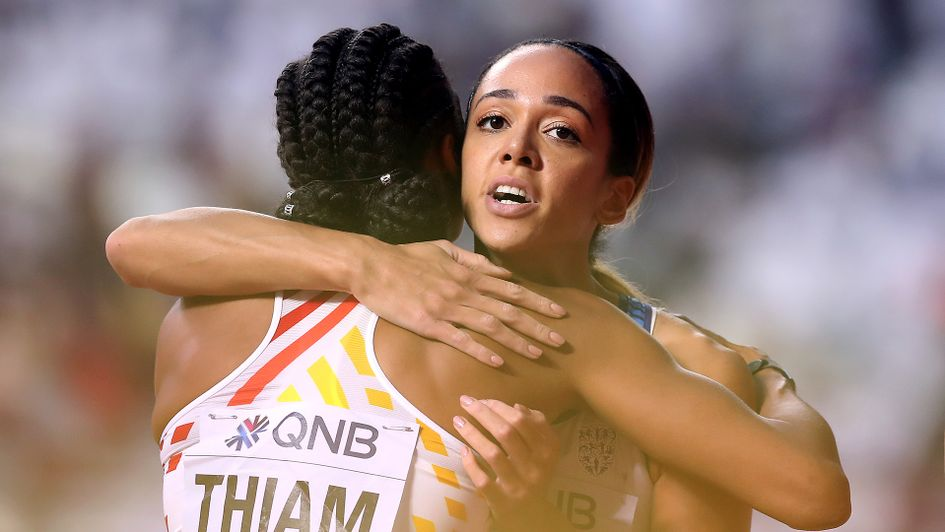 Katarina Johnson-Thompson and Nafissatou Thiam