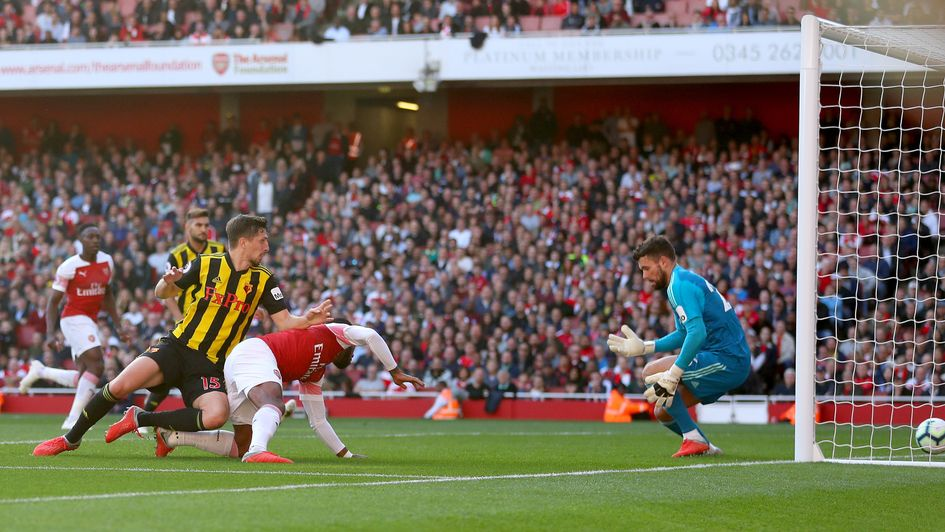 An own goal from Craig Cathcart helps put Arsenal on their way to victory over Watford
