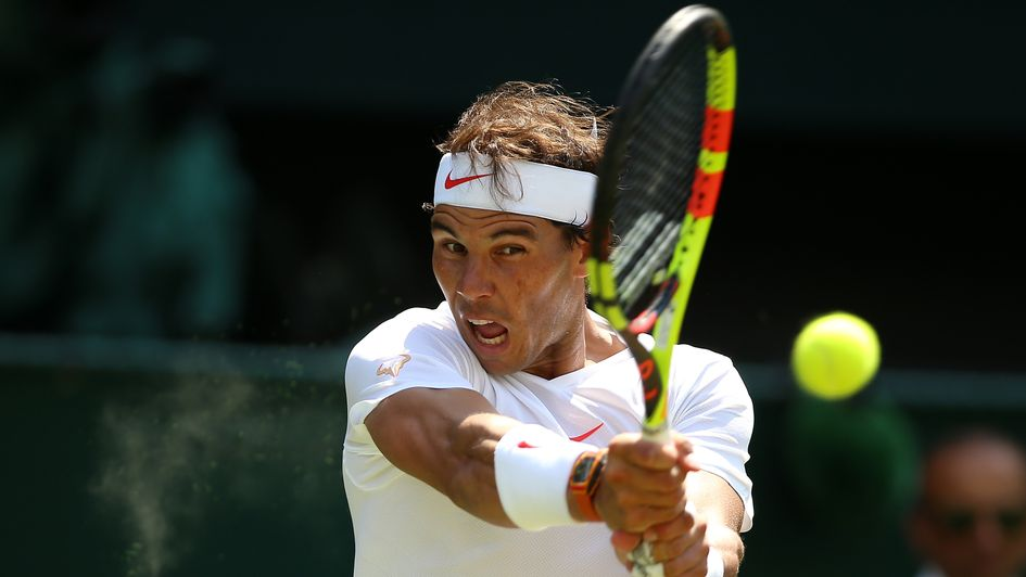 Nadal - one of the star names in action at Wimbledon today