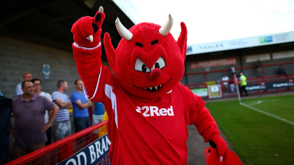 Crawley Town mascot Reggie the Red