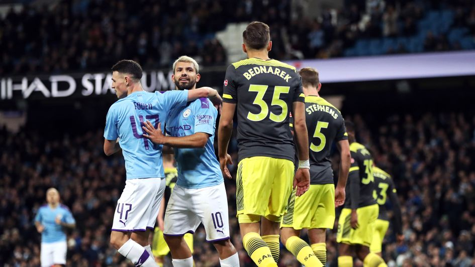 Célébrations pour Sergio Aguero à l'occasion de sa 350e apparition pour Manchester City