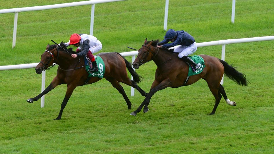 Star Catcher winning the Irish Oaks