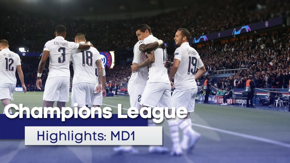 Watch all the highlights from matchday one of the Champions League