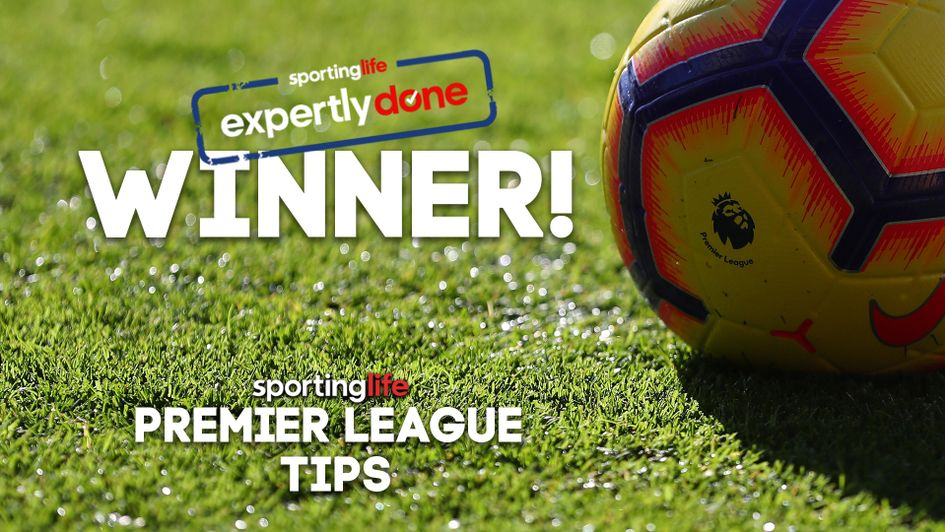 We have a winner: Success in our latest Premier League tips