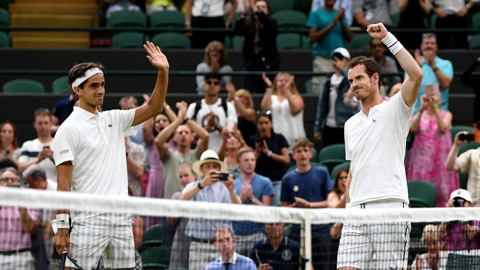 Andy Murray and Pierre-Hugues Herbert celebrate