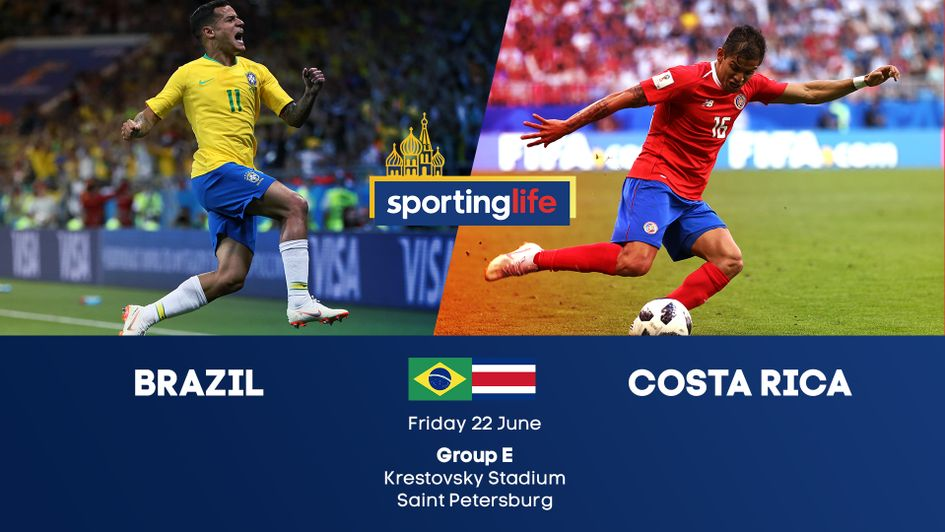 Brazil v Costa Rica in Group B at the 2018 World Cup
