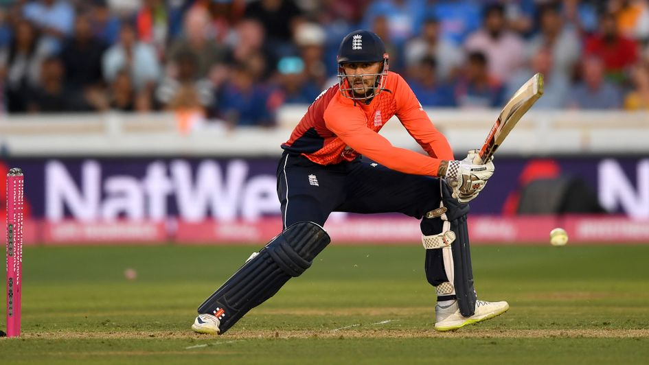Alex Hales in action during the 2nd Vitality International T20 match between England and India