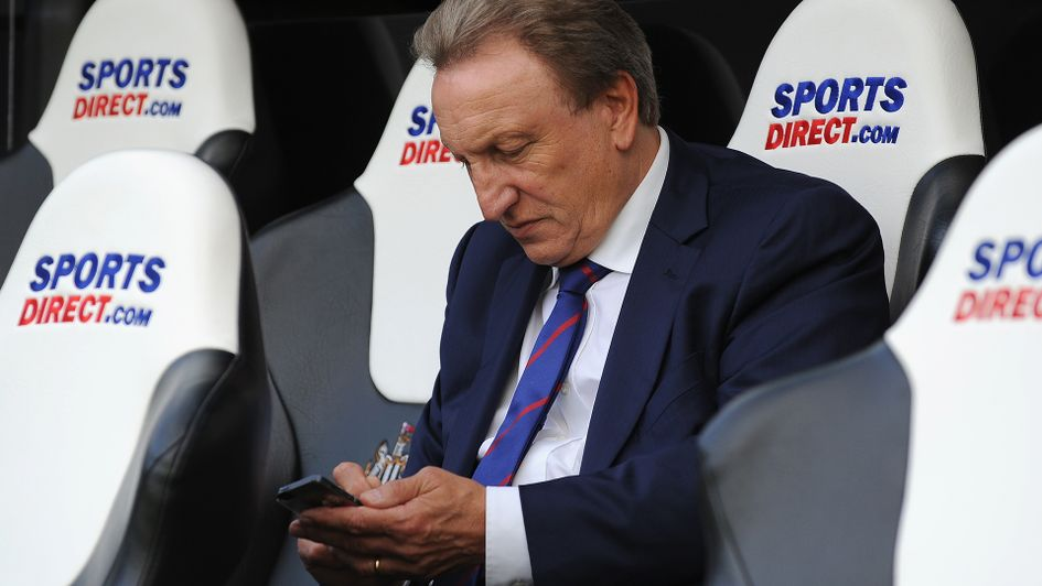 Neil Warnock sending in his Tweets to @SportingLifeFC