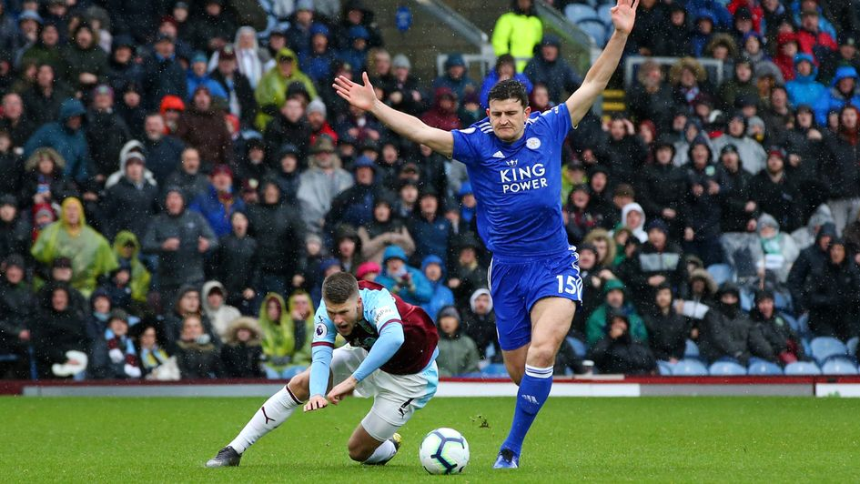 Leicester's Harry Maguire sees red against Burnley
